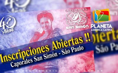 Convocatória para novos postulantes Caporales San Simon Filial São Paulo Brasil