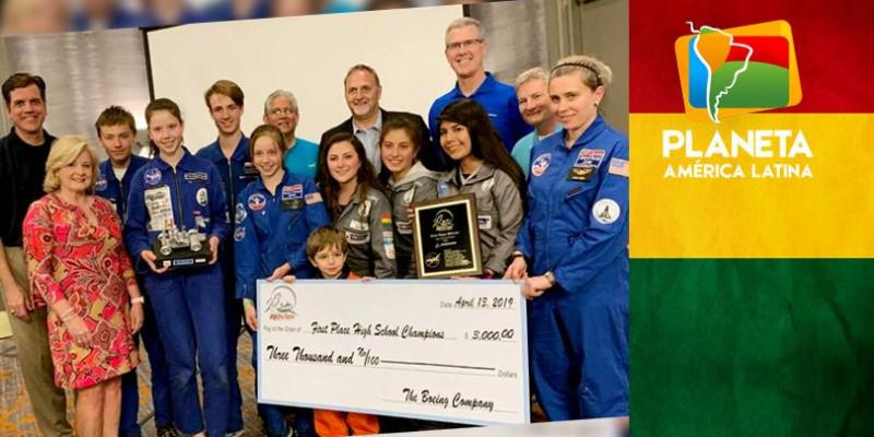 Jovens bolivianas ganham prêmio em evento mundial da NASA