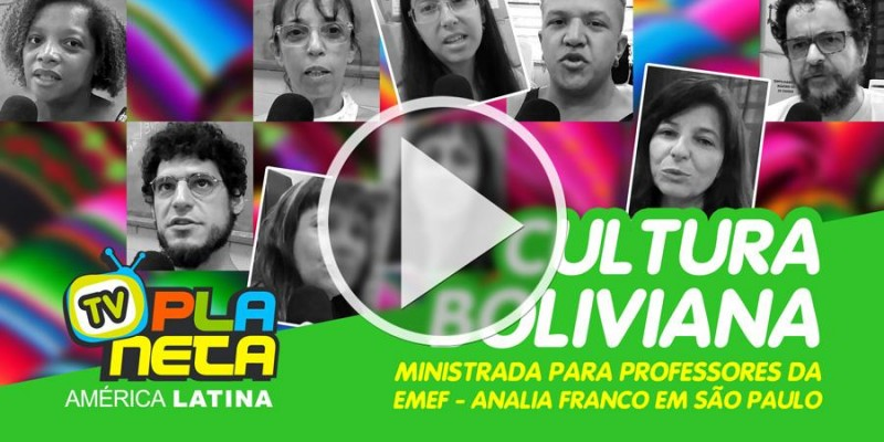 Cultura boliviana exposta para professores da EMEF Analia Franco em São Paulo