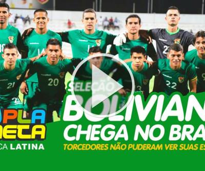 Seleção boliviana chega no Brasil para Copa América 2019 e não atende torcedores em madrugada fria paulistana