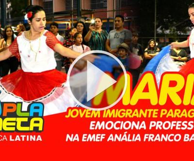Jovem imigrante paraguaia emociona professores em Festa Junina Multicultural