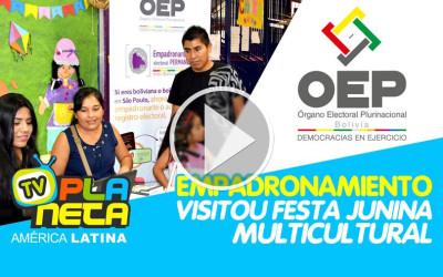 Festa junina multicultural da EMEF Anália Franco, recebe serviços do Órgão Eleitoral Boliviano