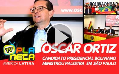 Candidato presidencial Oscar Ortiz, promete mudanças no serviço consular boliviano em São Paulo.