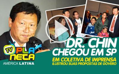 Dr. Chin Hyun Chung, candidato a presidência na Bolívia chegou em SP