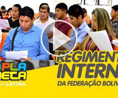 Revisão do Regimento Interno da Federação Boliviana em Brasil