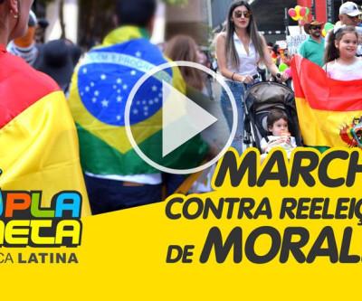 Bolivianos marcham na Paulista contra reeleição de Evo Morales