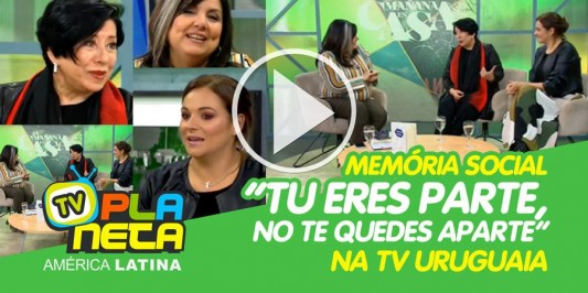 Livro com histórias de imigrantes uruguaias ganha destaque na tv deste país