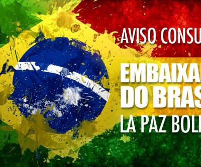 Nota oficial da Embaixada do Brasil na cidade de La Paz na Bolívia