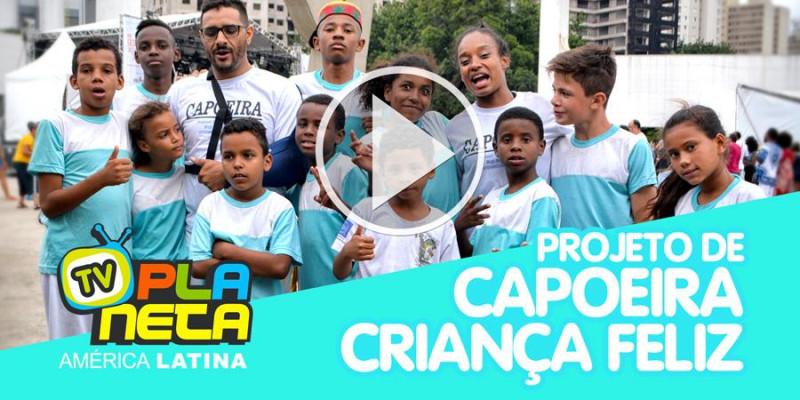 Projeto de Capoeira Criança Feliz no dia da Consciência Negra no Memorial
