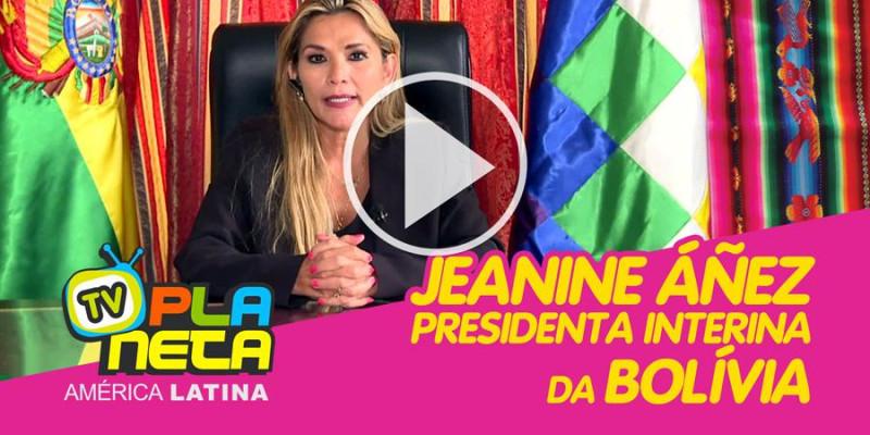 Jeanine Áñez assumiu o cargo de presidenta interina da Bolívia