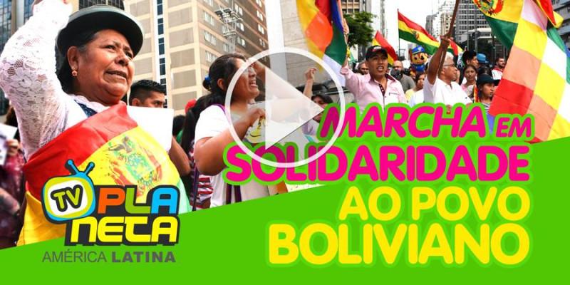 Multitudinária marcha ocupa a Paulista em solidariedade ao povo boliviano