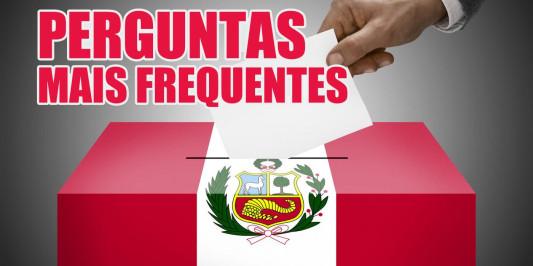 Perguntas mais frequentes - Eleições Congressuais Peru 2020 em Brasil