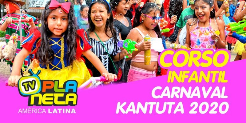 Brilho de cores no Corso Infantil no Carnaval Boliviano em SP