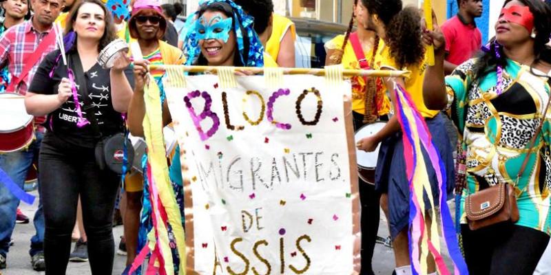 Bloco de imigrantes de Assis no Bixiga em São Paulo