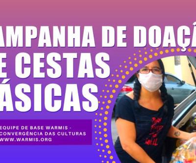 Campanha de doação de cestas básicas