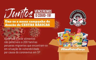Peruanos juntos para vencer o COVID-19 em São Paulo