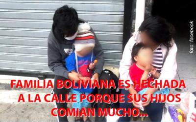 Família colocadas na rua por dono de oficina que alegava que as crianças comiam muito