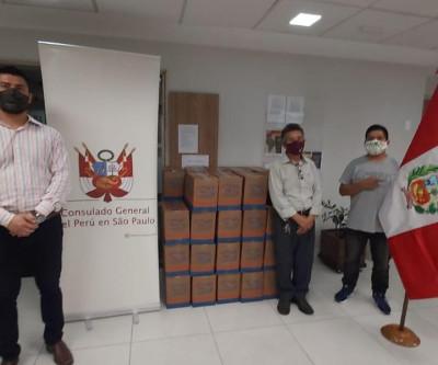 Consulado peruano em SP realizou entrega de cestas básicas