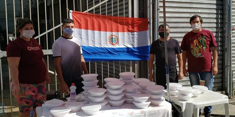 Olla Popular - organizada por imigrantes paraguaios no Bom Retiro