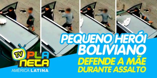 Pequeno herói de 11 anos defende a mãe durante assalto a família boliviana em SP