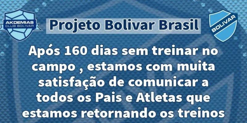 Projeto Bolivar Brasil retoma treinos