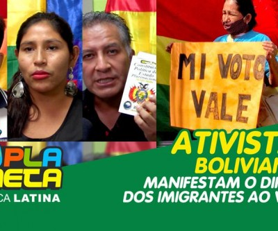 Ativistas bolivianos reivindicam o direito ao voto dos imigrantes em São Paulo