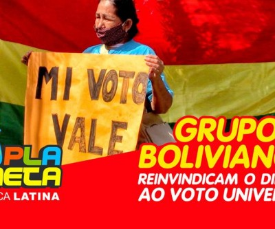 Manifestação de imigrantes bolivianos pede respeito do direito ao voto