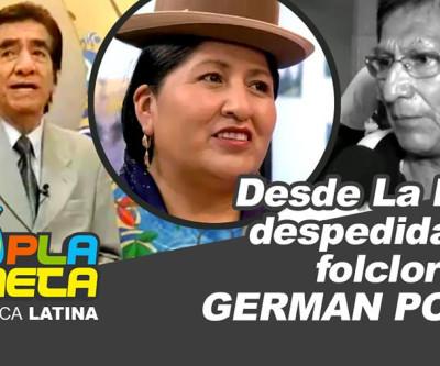 Despedida do folclorista German Poma, na Tribuna Libre del Pueblo