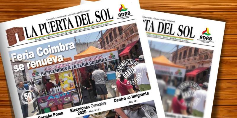 La Puerta Del Sol  - Edição nº 78 do Jornal boliviano em SP