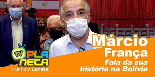 O Candidato Márcio França fala do carinho que tem pela Bolívia