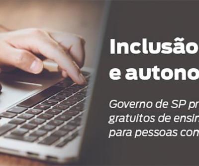 SP oferece cursos de inclusão digital a pessoas com deficiência