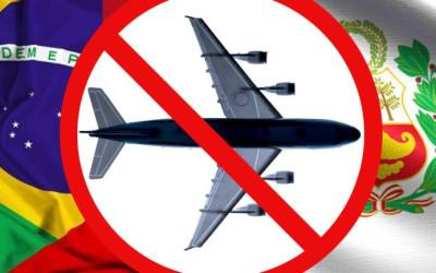 Suspendidas a chegada de voos procedentes do Brasil ao Peru a partir de 31 de janeiro até 14 de fevereiro de 2021