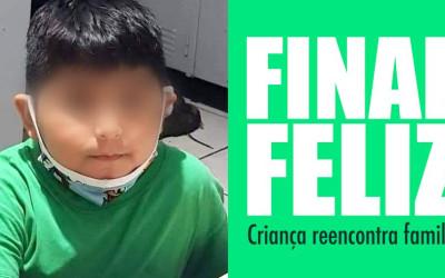 Final Feliz, apareceram os pais da criança perdida na região norte de São Paulo