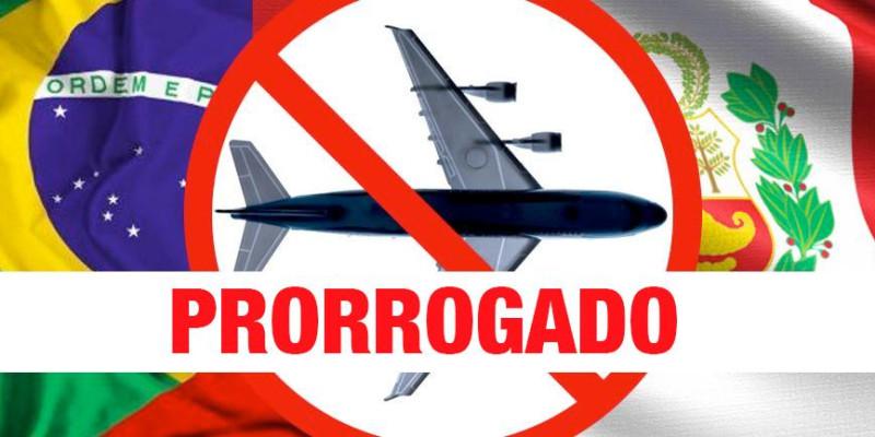 Extendida a suspensão de voos provenientes do Brasil ao Peru até 14 /0321