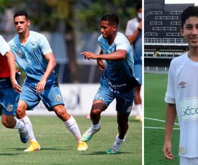 Acuña o Jogador boliviano que veste a camisa 10 no sub-15 do Santos