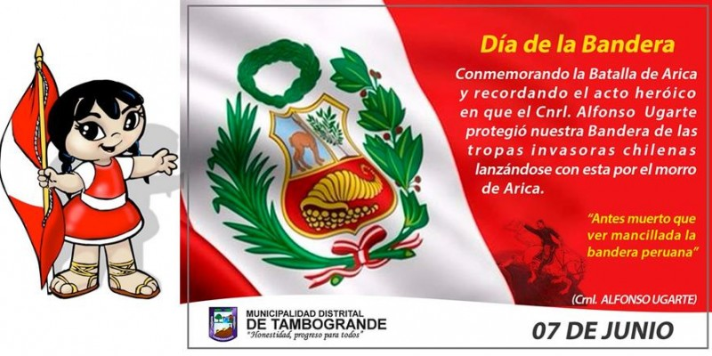 Dia da bandeira peruana