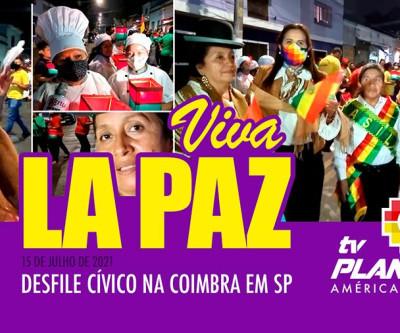 Bolivianos em SP desfilam em homenagem aos 212 anos de La Paz