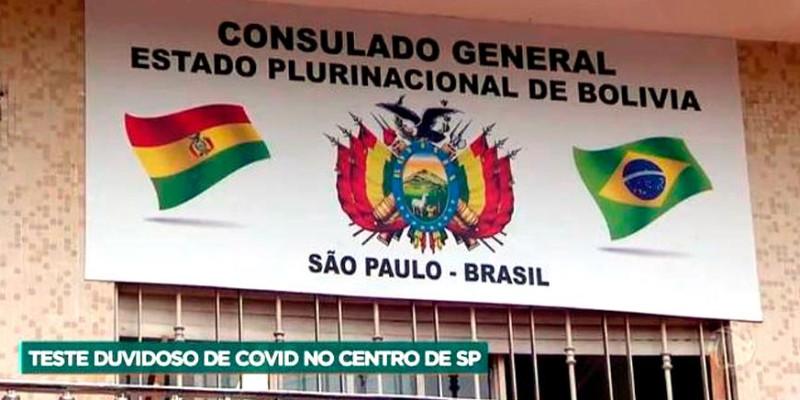 Laboratório clandestino de amigo do consul boliviano, vende testes de covid-19 para estrangeiros que querem sair do Brasil