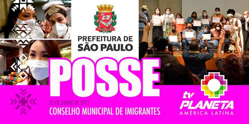 Posse dos novos integrantes da sociedade civil do Conselho Municipal de Imigrantes