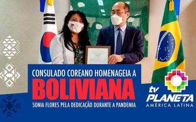Médica boliviana é homenageada pelo Consulado Geral da República da Coreia em SP