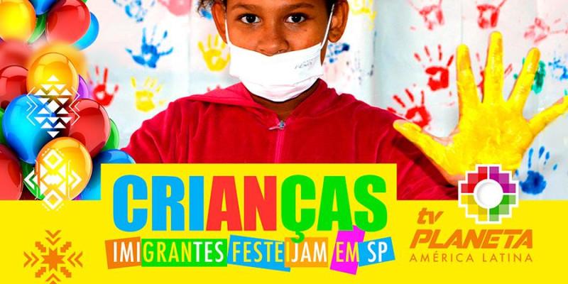 Dia das Crianças dos imigrantes 2021 no Centro do Imigrante no Brás em São Paulo
