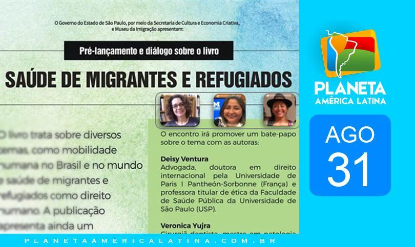 Pré-lançamento e diálogo sobre o livro 'Saúde de migrantes e refugiados'