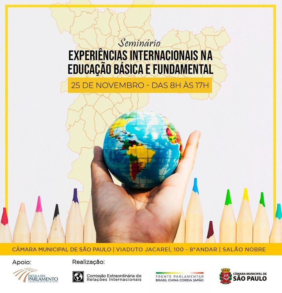 Seminário experiências internacionais na educação básica e fundamental.