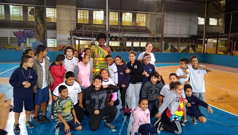 Refugiados visitam Escola Municipal de São Paulo
