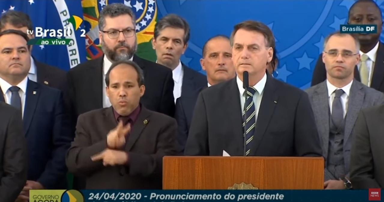 Bolsonaro fala sobre saída de Moro