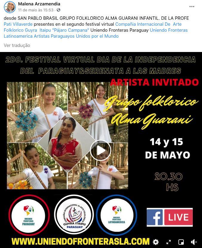 Paraguaios comemoram 210 anos de independência do país