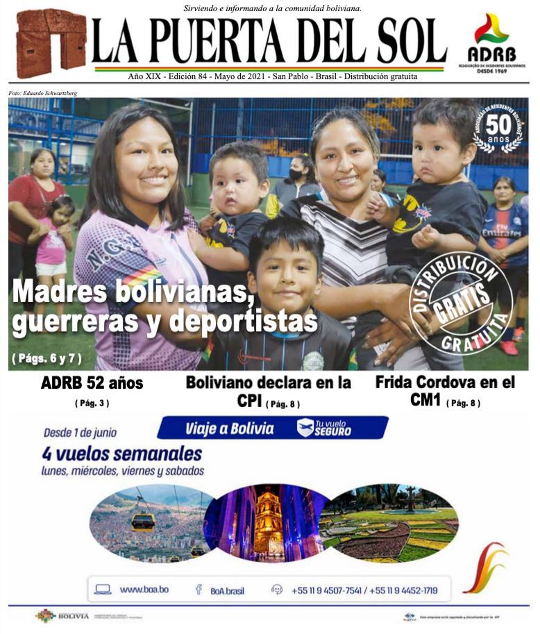 La Puerta Del Sol  - Edição nº 84 do Jornal boliviano em SP