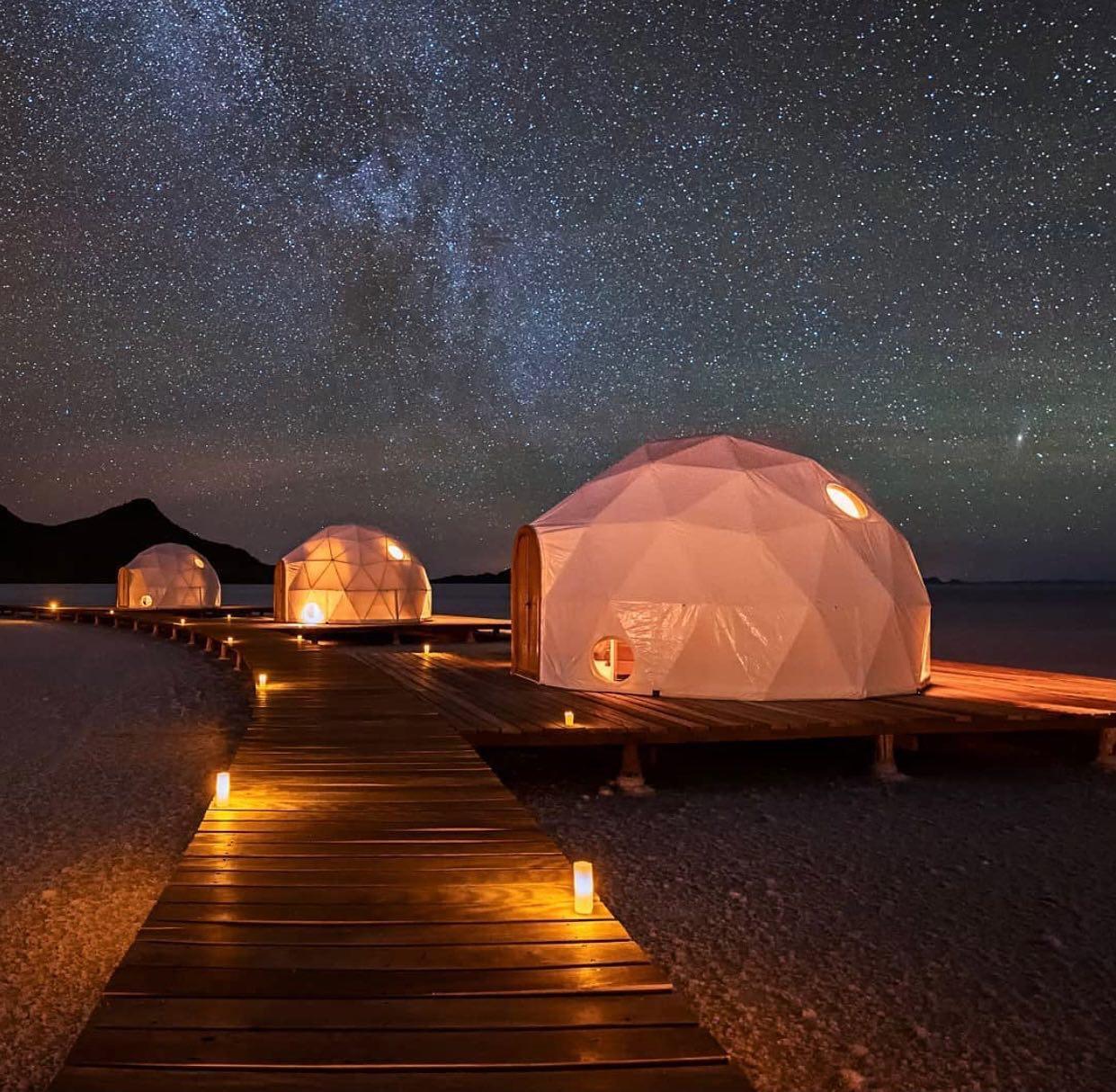 Hotel incrível com cúpula no Salar de Uyuni